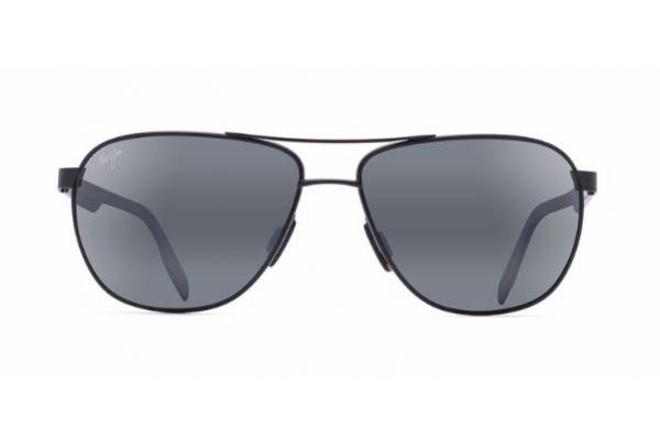 Large image of Maui Jim Castles Matte Black Mens Sunglasses - 728-2M