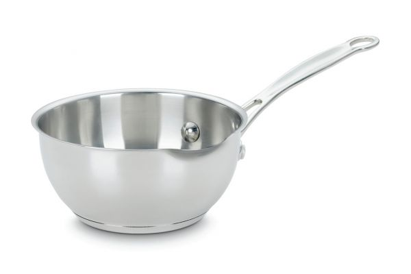Large image of Cuisinart 1 Qt. Stainless Steel Pour Saucepan - 735-16OP