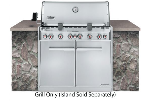 Large image of Weber Summit S-660 Built In Liquid Propane Gas Grill - 7360001