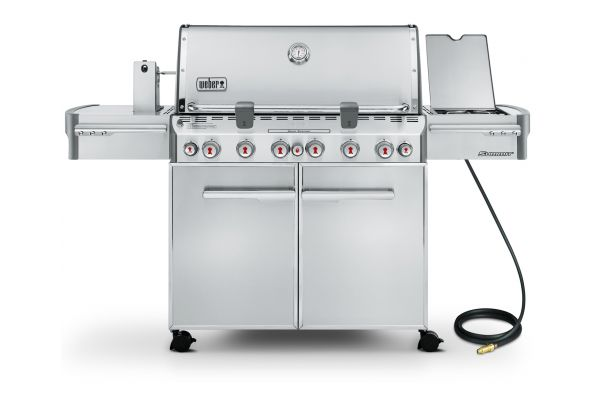 Weber Summit S-670 Natural Gas Stainless Steel Outdoor Grill - 7470001