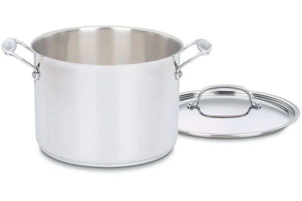 Large image of Cuisinart 8 Qt. Stainless Steel Chefs Classic Stockpot with Lid - 766-24