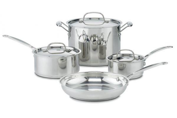 Cuisinart 7-Piece Chefs Classic Stainless Steel Cookware Set - 77-7