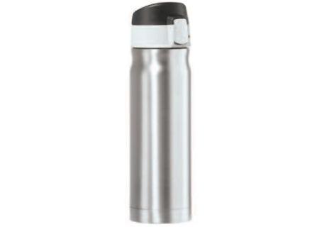 Oggi Caliber 16 Oz. Silver Stainless Steel Travel Flask - 80420