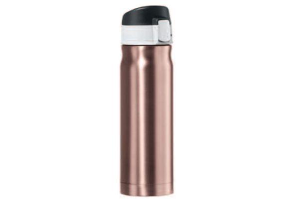 Large image of Oggi Caliber 16 Oz. Rose Gold Stainless Steel Travel Flask - 804213