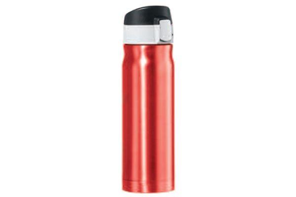 Oggi Caliber 16 Oz. Red Stainless Steel Travel Flask - 80422
