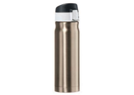 Oggi Caliber 16 Oz. Champagne Stainless Steel Travel Flask - 80424