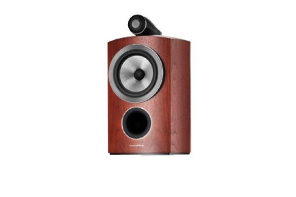 Large image of Bowers & Wilkins 800 Series Compact Diamond Rosenut Bookshelf Speaker (Each) - FP37834