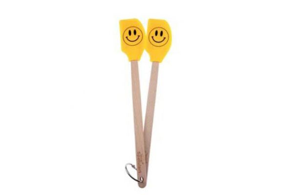 Tovolo Spatulart Smiley Face Set of 2 Mini Spatulas  - 806252