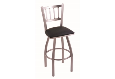 Holland Bar Stool Co - 81025SSBLKVINYL - Bar Stools & Counter Stools