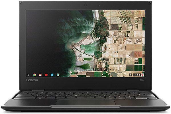 Lenovo 100e Chromebook Black Laptop Computer - 81ER0002US