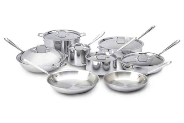 All-Clad Stainless Steel 14-Piece Pan Set - 8400000256