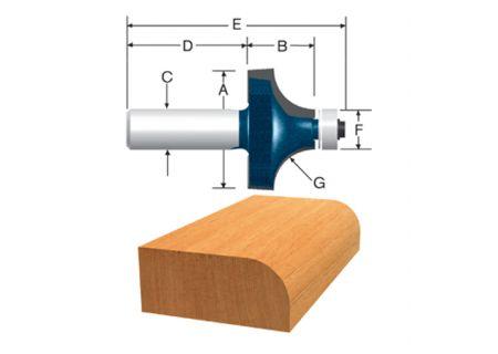 "Bosch Tools 1/8"" x 3/8"" Carbide Tipped Roundover Bit - 85290M"