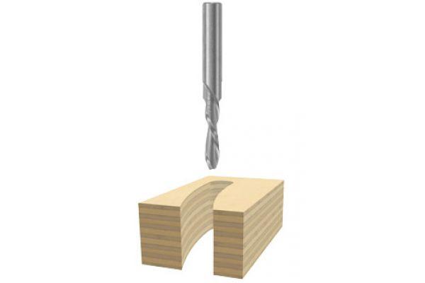 "Bosch Tools 3/16"" X 3/4"" Solid Carbide 2 - Flute Downcut Spiral Bit  - 85901M"