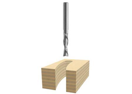 "Bosch Tools 1/4"" X 1"" Solid Carbide Tipped 2 - Flute Downcut Spiral Bit  - 85903M"