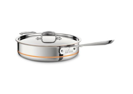 All-Clad 5 Qt. Stainless Steel Copper Core Saute Pan   - 8701003659