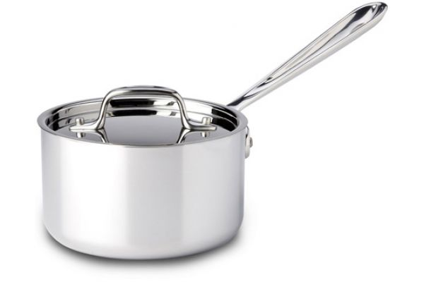 Large image of All-Clad Stainless Steel 1.5 Qt Sauce Pan With Lid - 8701004393