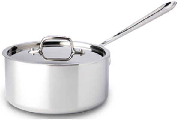 Large image of All-Clad Stainless Steel 3 Qt Sauce Pan With Lid - 8701004398