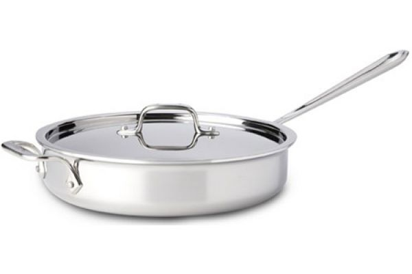 Large image of All-Clad Stainless Steel 3 Qt Deep Saute Pan With Lid - 8701004414