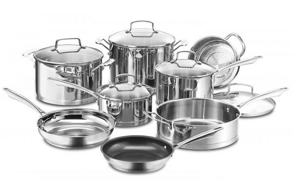 Large image of Cuisinart Professional Stainless Steel 13-Piece Cookware Set - 89-13