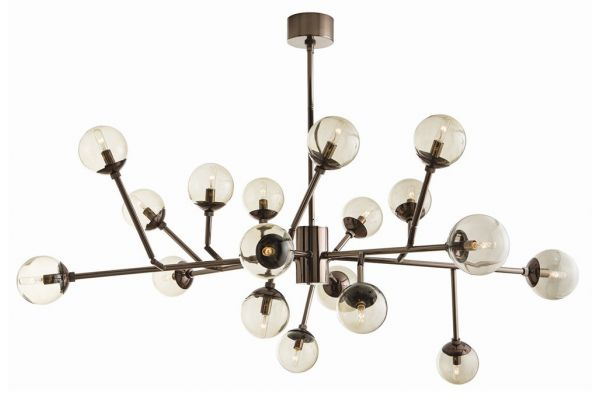 Large image of Arteriors Dallas Medium Brown Nickel Chandelier - 89981