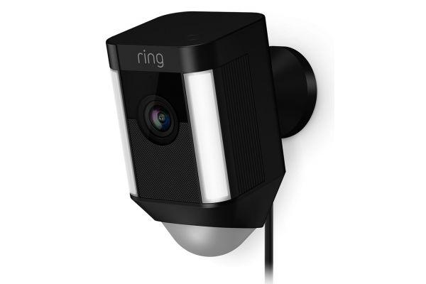 Large image of Ring Black Spotlight Cam Wired Security Camera - B0758RLWBJ