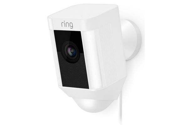 Large image of Ring White Spotlight Cam Wired Security Camera  - B0756P26HL
