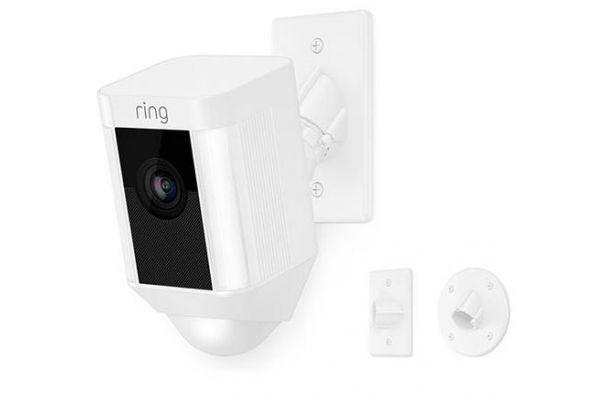 Ring White Spotlight Camera With Mount - 8SH5P7-WEN0