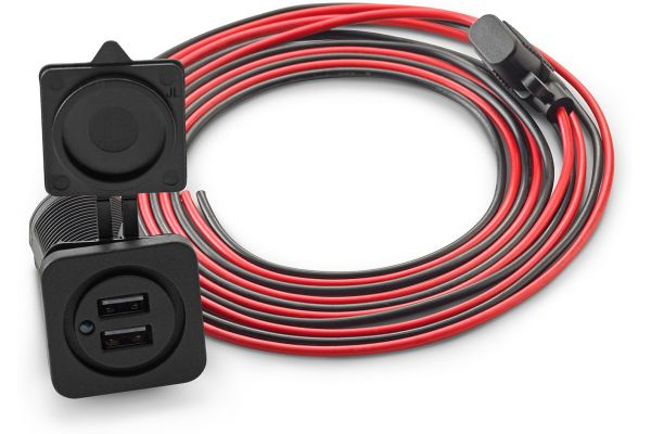 Large image of JL Audio Dual USB Charging Jack - XMDUSBCHG/2X-PNL