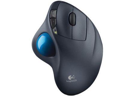 Logitech M570 Black Wireless Trackball Mouse - 910-001799