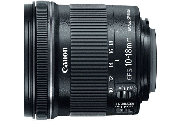Large image of Canon EF-S 10-18mm f/4.5-5.6 IS STM Lens - 9519B002