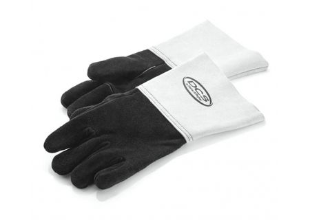 DCS Black And White Leather Grill Gloves - AA-PG14