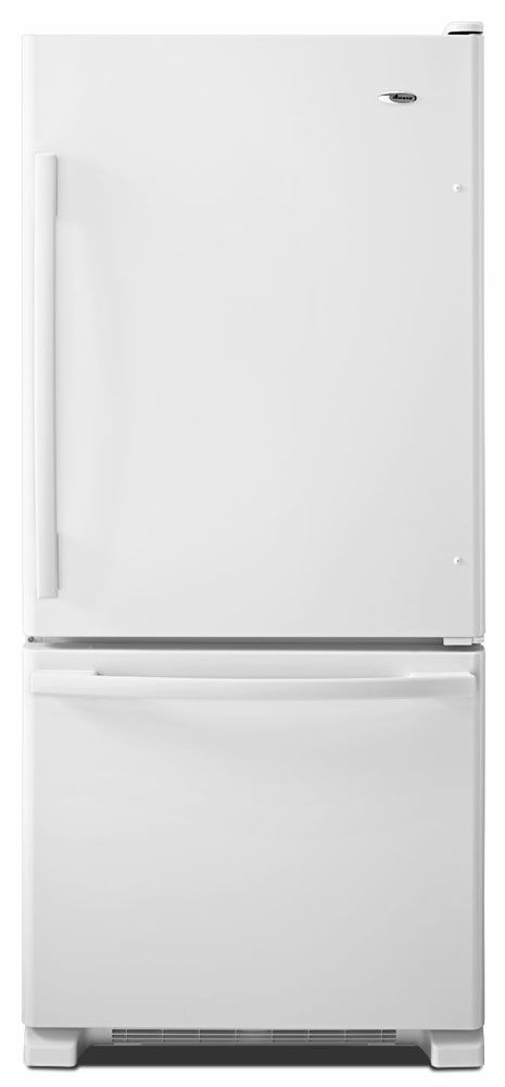 Amana White Bottom Freezer Refrigerator