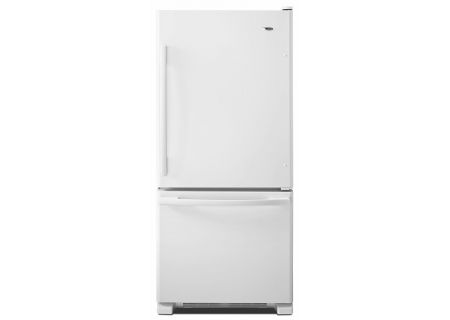 Amana White Bottom Freezer Refrigerator - ABB1924BRW