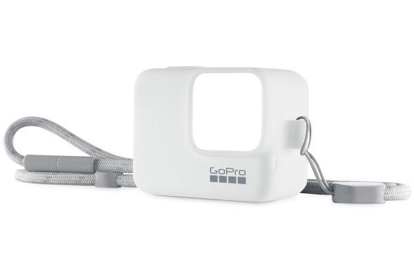 Large image of GoPro White Camera Sleeve + Lanyard - ACSST-002