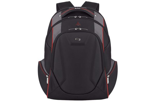 """Large image of Solo Active Collection Black/Red 17.3"""" Backpack - ACV711-4"""