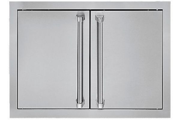 """Large image of Viking Outdoor Series 28"""" Stainless Steel Double Access Doors - AD52820S"""