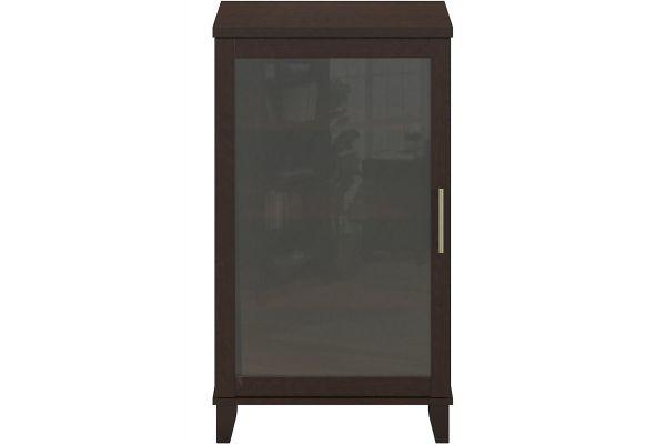 Bush Furniture Somerset Mocha Cherry Audio Cabinet Bookcase - AD81840