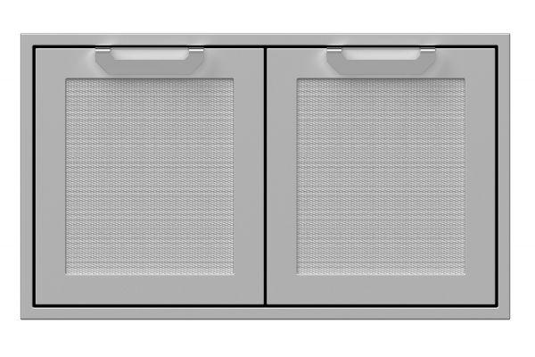 "Large image of Hestan 36"" Stainless Steel Double Sealed Pantry Storage Doors  - AGLP36"