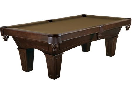 Brunswick Ainslie 8 Ft. Espresso And Sahara Billiard Table Package  - AIN8-ES-TP-SD-SH