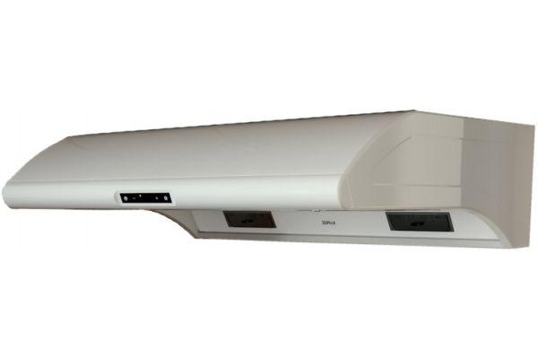 "Large image of Zephyr Typhoon 30"" White Quiet Under-Cabinet Range Wall Hood - AK2100BW"
