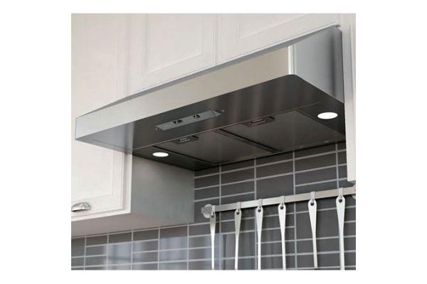 "Large image of Zephyr 36"" Gust Series Stainless Steel Under Cabinet Range Wall Hood - AK7136AS"