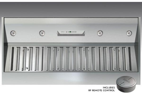"""Large image of Zephyr 54"""" Monsoon II OPL Stainless Steel One-Piece Hood Liner - AK9352AS"""