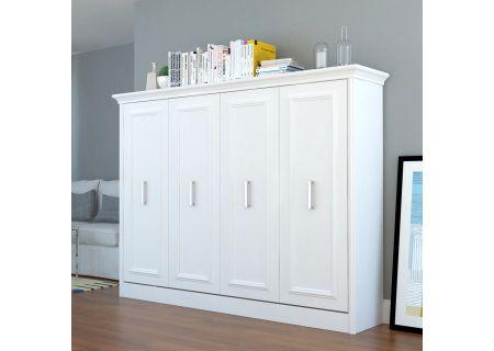 Leto Muro Allegra Series White Full Wall Bed - ALEGDBL