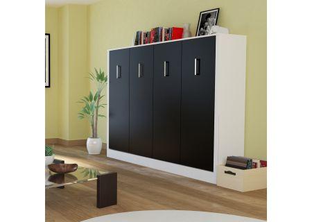 Leto Muro Alexa Series Matte Black Full Wall Bed - ALEX10LD-WH-MB