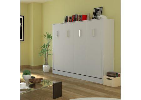 Leto Muro Alexa Series White Full Wall Bed - ALEX10LD-WH-WH