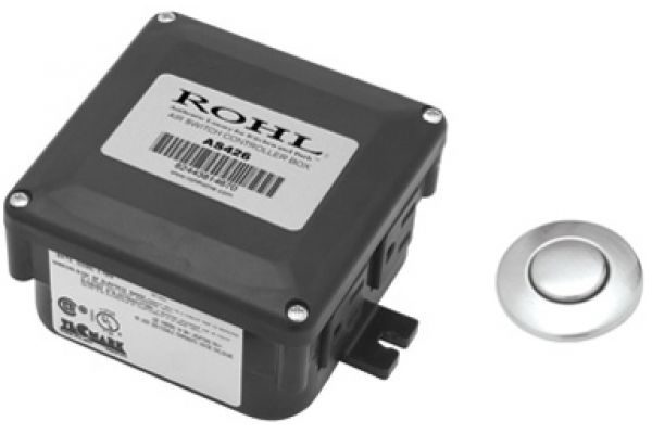 Large image of Rohl Air Activated Polished Chrome Switch Button With Control Box For Waste Disposal - AS450APC