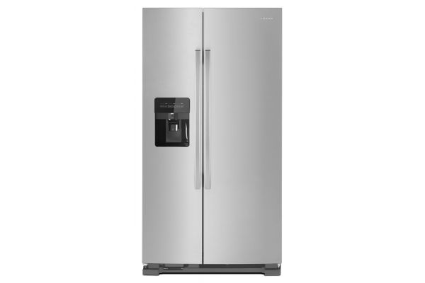 """Large image of Amana 33"""" Stainless Steel Side-By-Side Refrigerator With Dual Pad External Ice And Water Dispenser - ASI2175GRS"""