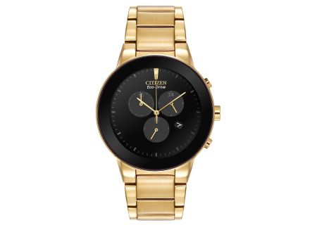 Citizen Eco-Drive Axiom Gold-Tone Black Dial Mens Watch - AT2242-55E