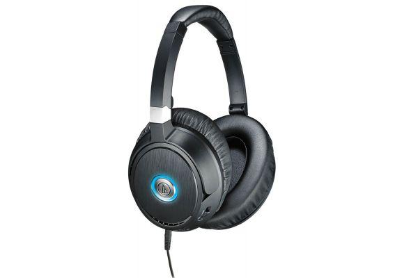 Large image of Audio-Technica Black QuietPoint Active Noise-Cancelling Headphones - ATH-ANC70