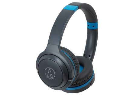 Audio-Technica Gray Blue Wireless On-Ear Headphones - ATH-S200BTGBL